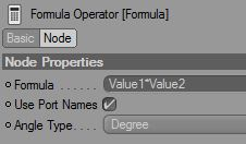 And finally , the settings for each of the formula nodes